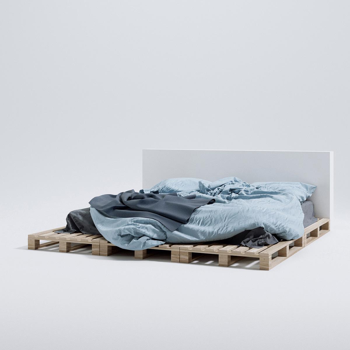 vol  1 Beds – Triangle Form – 3d models | Scenes