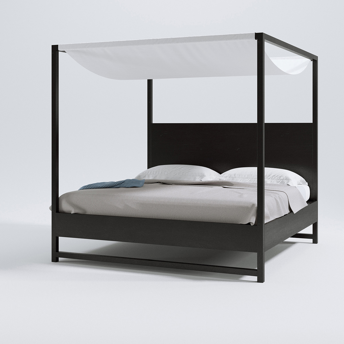 B&B Italia Alcova bed – Triangle Form – 3d models | Scenes