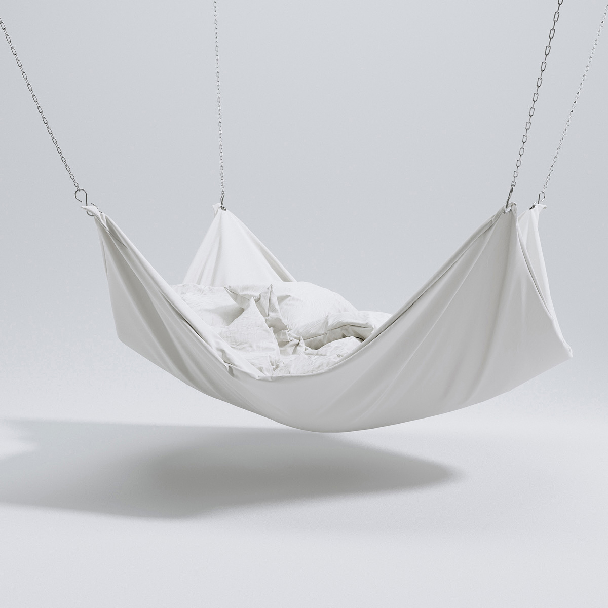 Hammock bed – Triangle Form – 3d models | Scenes
