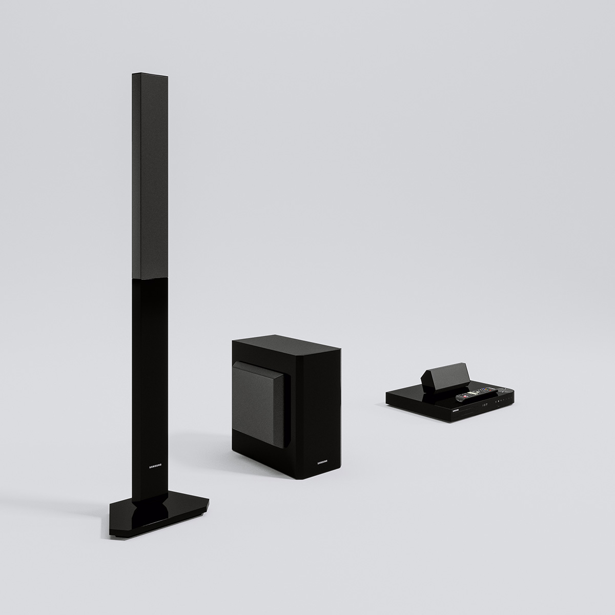 4D Max Cinema home cinema samsung – triangle form – 3d models | scenes